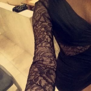 Nasty Gal bodycon mini dress with lace details